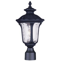 Livex 7848-04 Oxford 1 Light 16 inch Black Outdoor Post Head