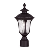 Livex 7848-07 Oxford 1 Light 16 inch Bronze Outdoor Post Head