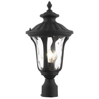 Livex Lighting 7848-14 Oxford 1 Light 16 inch Textured Black Outdoor Post Top Lantern