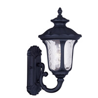 Livex Lighting Oxford 1 Light Outdoor Wall Lantern in Black 7850-04 photo thumbnail