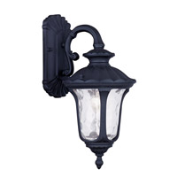 Oxford 1 Light 16 inch Black Outdoor Wall Lantern