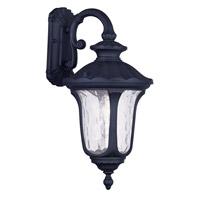 Livex Lighting Oxford 1 Light Outdoor Wall Lantern in Black 7853-04 photo thumbnail