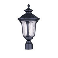 Livex Lighting Oxford 1 Light Outdoor Post Head in Black 7855-04