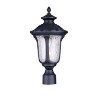 Livex Lighting Oxford 1 Light Outdoor Post Head in Black 7855-04 photo thumbnail
