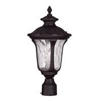 Livex 7855-07 Oxford 1 Light 19 inch Bronze Outdoor Post Head