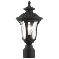 Livex 7855-14 Oxford 1 Light 19 inch Textured Black Outdoor Post Top Lantern