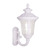 Livex Lighting Oxford 3 Light Outdoor Wall Lantern in White 7856-03