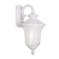 Livex Lighting Oxford 3 Light Outdoor Wall Lantern in White 7857-03