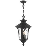 Livex Lighting 7858-14 Oxford 3 Light 11 inch Textured Black Outdoor Pendant Lantern
