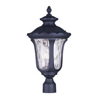 Livex Lighting Oxford 3 Light Outdoor Post Head in Black 7859-04