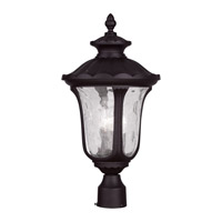 Livex 7859-07 Oxford 3 Light 22 inch Bronze Outdoor Post Head