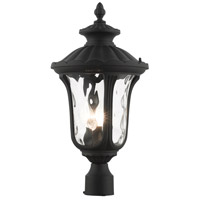 Livex Lighting 7859-14 Oxford 3 Light 22 inch Textured Black Outdoor Post Top Lantern