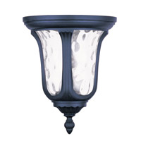 Livex Lighting Oxford 2 Light Outdoor Ceiling Mount in Black 7861-04