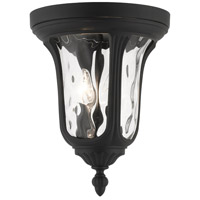 Livex Lighting 7861-14 Oxford 2 Light 11 inch Textured Black Outdoor Ceiling Mount