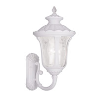 Livex Lighting Oxford 3 Light Outdoor Wall Lantern in White 7862-03