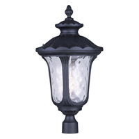 Livex 7864-04 Oxford 3 Light 27 inch Black Outdoor Post Head