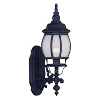 Livex Lighting Frontenac 1 Light Outdoor Wall Lantern in Black 7900-04