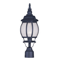 Livex Lighting Frontenac 1 Light Outdoor Post Head in Black 7905-04