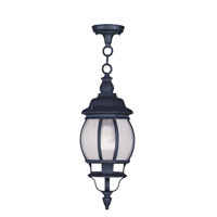 Livex Lighting Frontenac 1 Light Outdoor Hanging Lantern in Black 7906-04