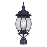 Livex Lighting Frontenac 3 Light Outdoor Post Head in Black 7907-04