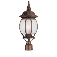 Livex Lighting Frontenac 3 Light Outdoor Post Head in Imperial Bronze 7907-58