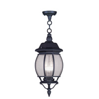 Livex Lighting Frontenac 3 Light Outdoor Hanging Lantern in Black 7908-04 photo thumbnail
