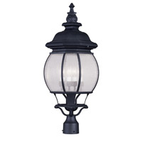 Livex Lighting Frontenac 4 Light Outdoor Post Head in Black 7909-04