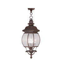 Livex Lighting Frontenac 4 Light Outdoor Hanging Lantern in Imperial Bronze 7910-58