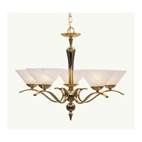 Livex Lighting Nouveau 5 Light Chandelier in Polished Brass 8005-02