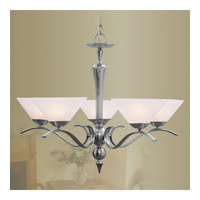 Livex Lighting Nouveau 5 Light Chandelier in Brushed Nickel 8005-91