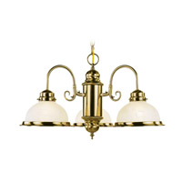 Livex Lighting Home Basics 3 Light Chandelier in Antique Brass 8103-01