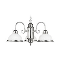 Livex Lighting Home Basics 3 Light Chandelier in Brushed Nickel 8103-91