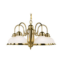 Home Basics 5 Light 23 inch Antique Brass Chandelier Ceiling Light