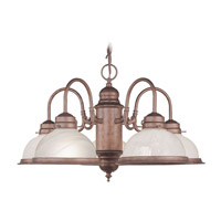 Livex Lighting Home Basics 5 Light Chandelier in Weathered Brick 8105-18