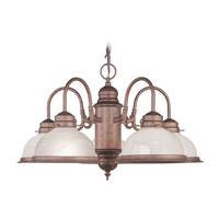 Livex Lighting Home Basics 5 Light Chandelier in Weathered Brick 8105-18 photo thumbnail
