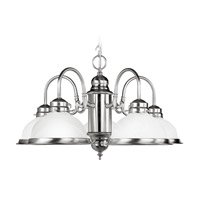 Livex Lighting Home Basics 5 Light Chandelier in Brushed Nickel 8105-91