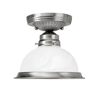 Home Basics 1 Light 8 inch Brushed Nickel Ceiling Mount Ceiling Light