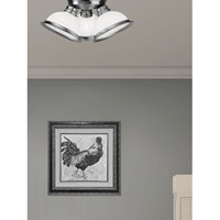 Livex 8108-91 Home Basics 3 Light 17 inch Brushed Nickel Ceiling Mount Ceiling Light  alternative photo thumbnail