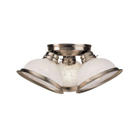 Livex 8108-91 Home Basics 3 Light 17 inch Brushed Nickel Ceiling Mount Ceiling Light