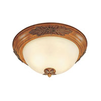 Livex Lighting Signature 3 Light Ceiling Mount in Olde Rust 8115-41