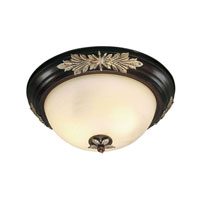 Livex Lighting Iron and Crystal 3 Light Ceiling Mount in Hand Rubbed Bronze with Antique Silver Accents 8115-40