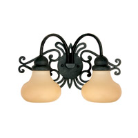 Livex Limited 2 Light Bath Light in Distressed Iron 8122-54