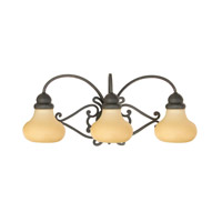 Livex Lighting Manor 3 Light Vanity in Distressed Iron 8123-54