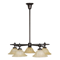 Livex Lighting Gas Light 5 Light Chandelier in Burnished Bronze 8135-27