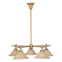 Livex Lighting Gas Light 5 Light Chandelier in Vintage Brass 8135-93