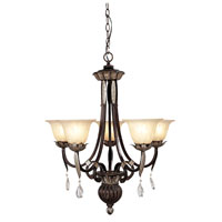 Livex Orleans 5 Light Chandelier in Hand Rubbed Bronze with Antique Silver Accents 8145-40 photo thumbnail
