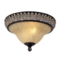 Livex Lighting Orleans 2 Light Ceiling Mount in Hand Rubbed Bronze with Antique Silver Accents 8161-40