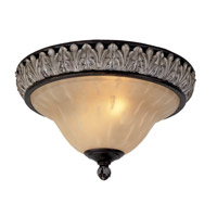Livex Lighting Orleans 3 Light Ceiling Mount in Hand Rubbed Bronze with Antique Silver Accents 8162-40