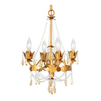 Livex Lighting Athena 4 Light Mini Chandelier in Autumn Gold 8184-55