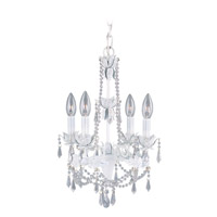 Livex 8184-60 Athena 4 Light 13 inch Antique White Mini Chandelier Ceiling Light